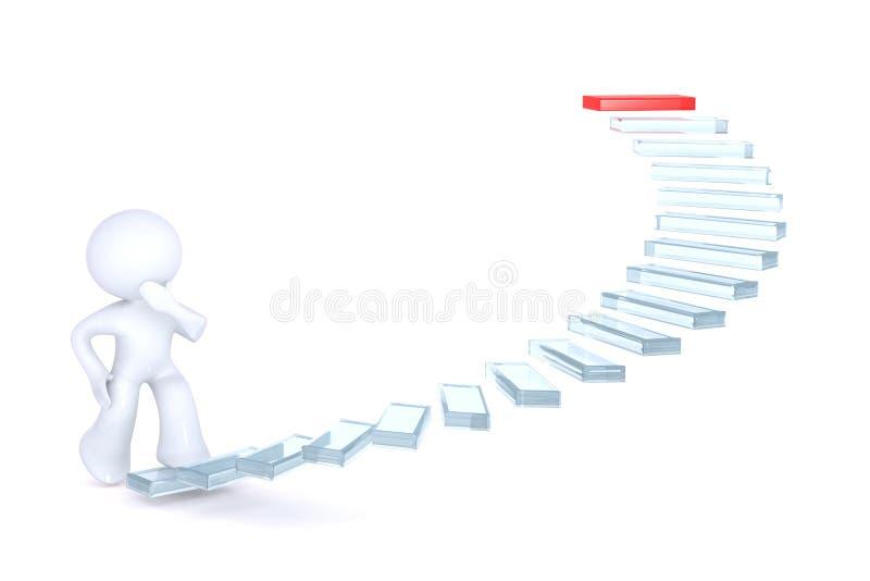 klättringtrappaframgång royaltyfri illustrationer