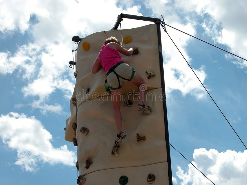klättringvägg arkivbilder