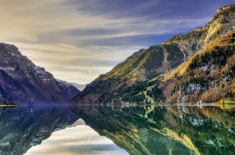 Mountain reflection in lake royalty free stock photo