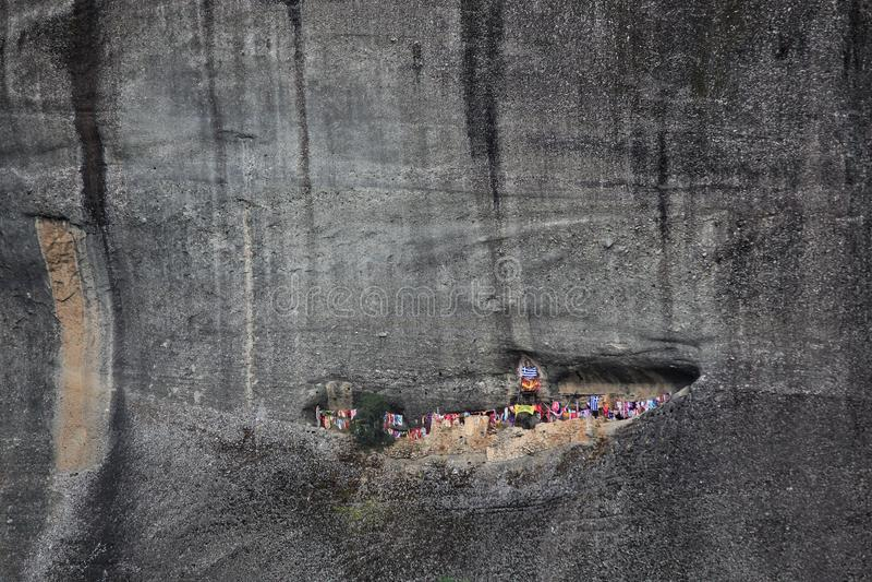 Klöster auf den Felsen in Meteora lizenzfreies stockbild