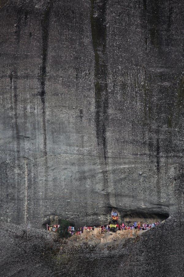 Klöster auf den Felsen in Meteora lizenzfreie stockfotografie
