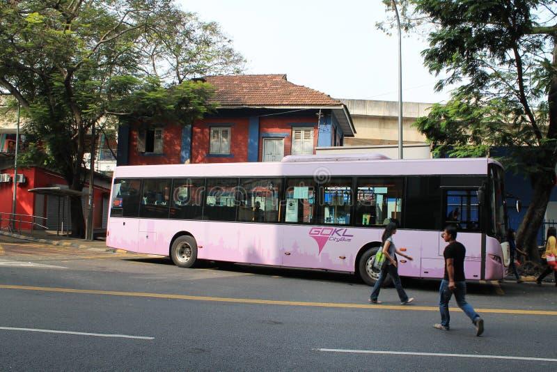Kl miasta autobus przy pasa seni Malaysia zdjęcia stock