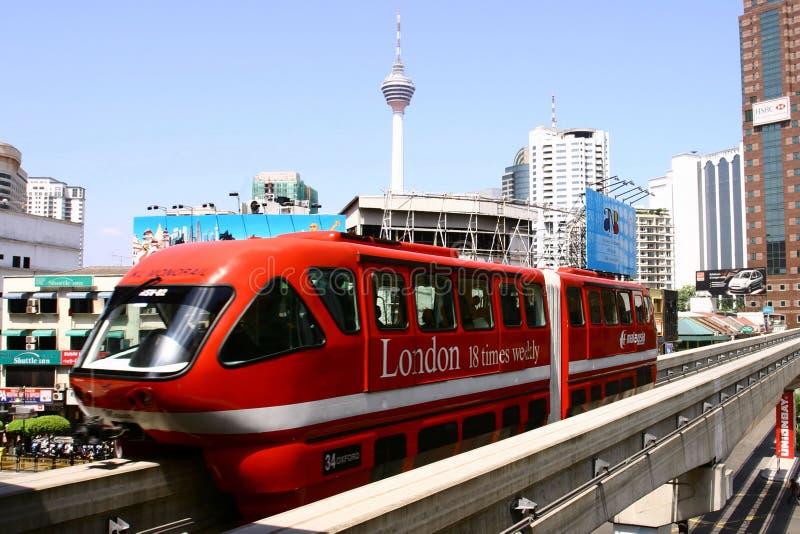 kl monorail Kuala Lumpur zdjęcie royalty free