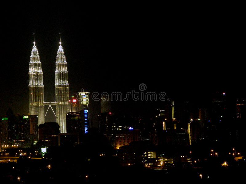 KL Night Scenes royalty free stock images