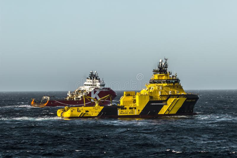 KL Sandefjord & Magne Viking royaltyfri foto