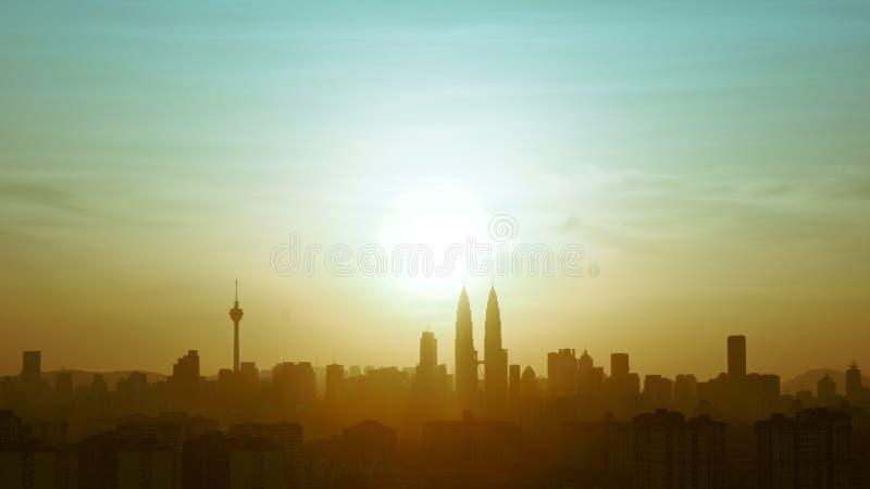 KL skyline stock photography