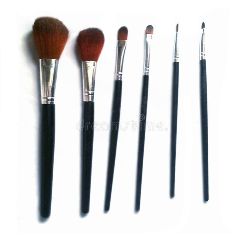 Klaar ¡! make-upborstels stock foto's