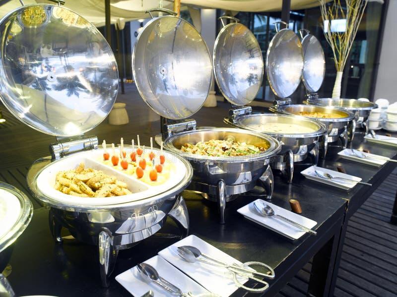 Klaar buffet stock foto's