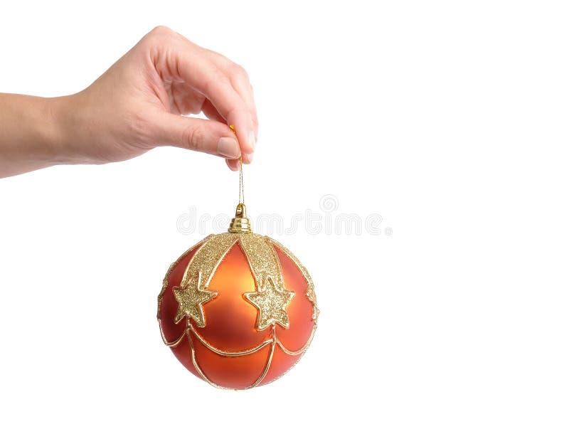 Klaar het worden voor de decoratie van de Kerstmisboom stock foto's