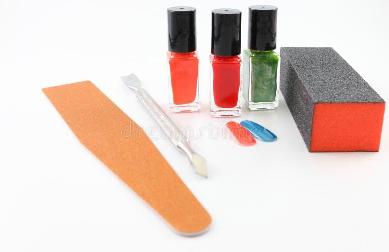 Klaar het worden voor een manicure stock foto's