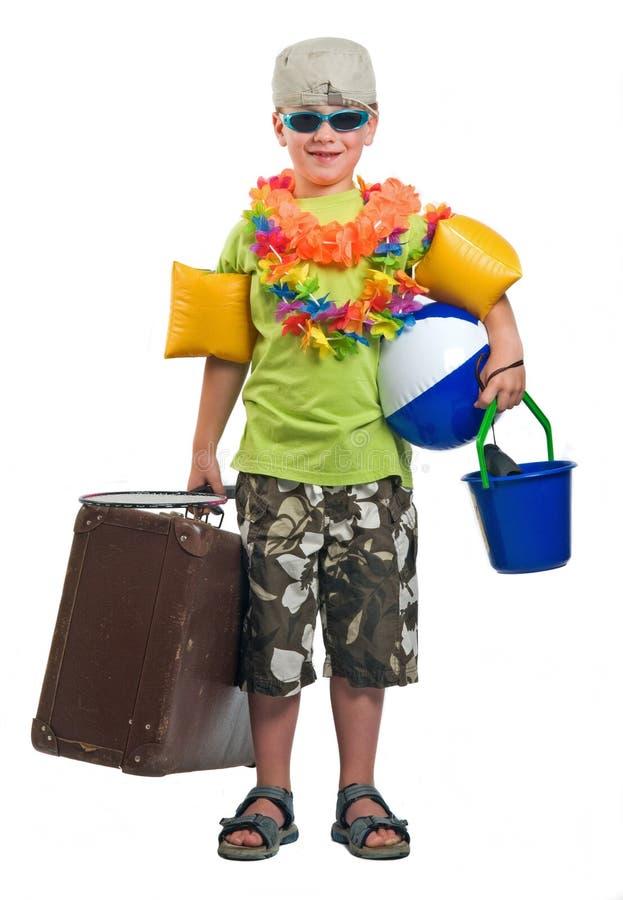 Klaar om op Vakantie te gaan stock afbeeldingen