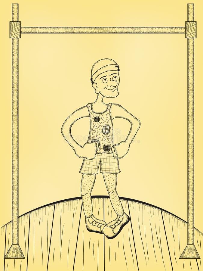 Klaar voor overhandse trekkracht UPS royalty-vrije illustratie
