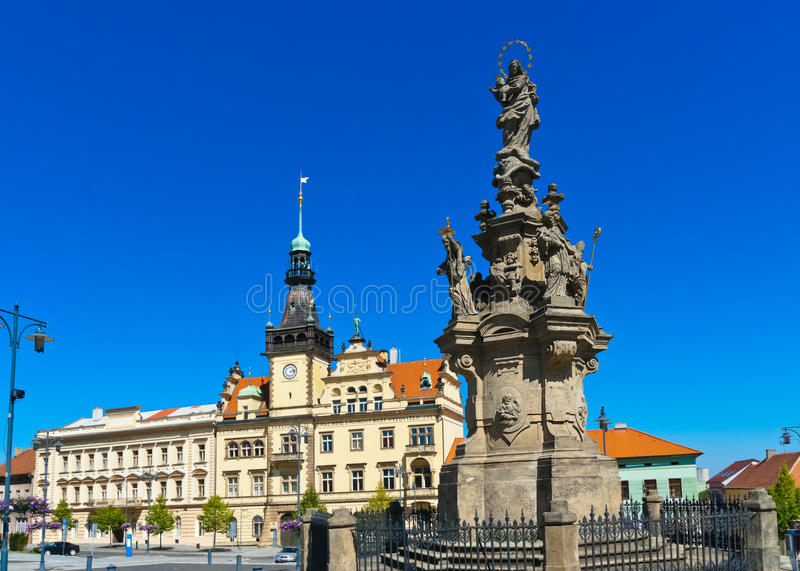 Kladno - Czech republic. Cathedral in town Kladno - Czech republic royalty free stock image