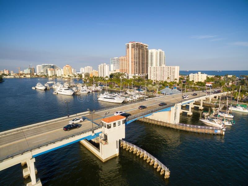 Klaffbro i Fort Lauderdale royaltyfri bild