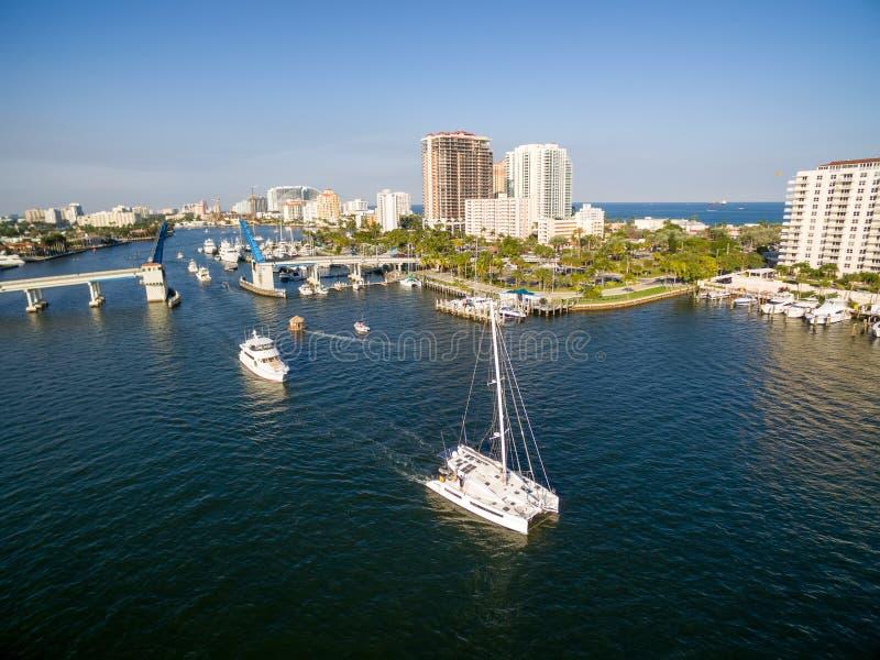 Klaffbro i Fort Lauderdale royaltyfria bilder