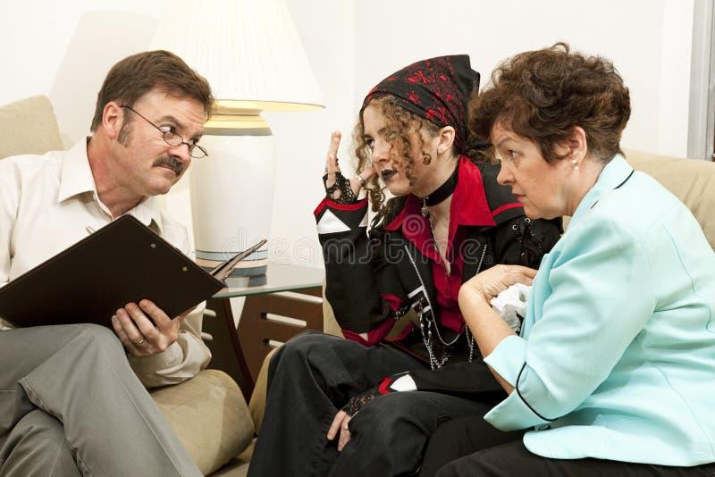 klagande terapeut till royaltyfri bild