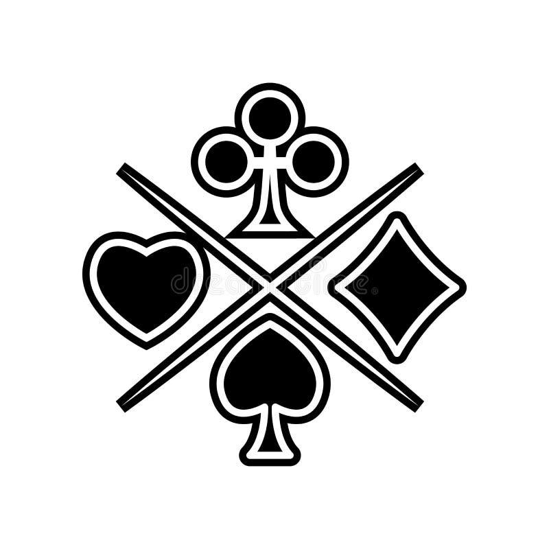 Klage der Spielkarteikone Element des Kasinos f?r bewegliches Konzept und Netz Appsikone Glyph, flache Ikone f?r Websiteentwurf u lizenzfreie abbildung