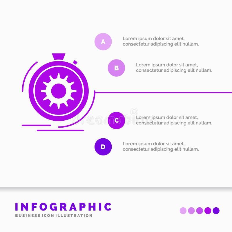 Klage, schnell, Leistung, Prozess, Geschwindigkeit Infographics-Schablone auf Website und Darstellung Infographic Art der purpurr lizenzfreie abbildung