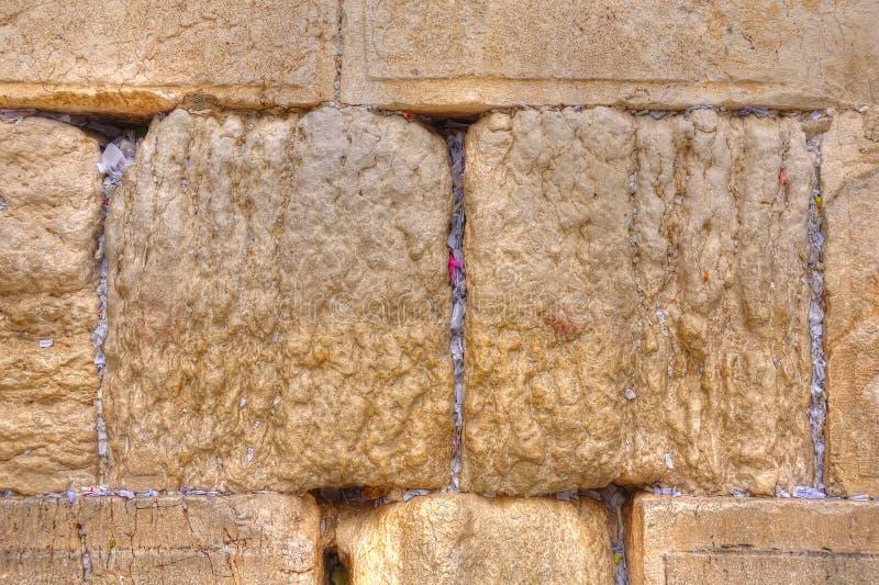 Klagemauer-Beleg-Anmerkungen, Jerusalem Israel stockfotografie