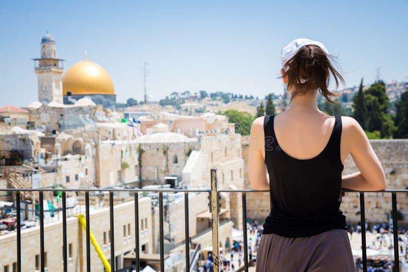 Klagemauer herein in Jerusalem stockfotografie