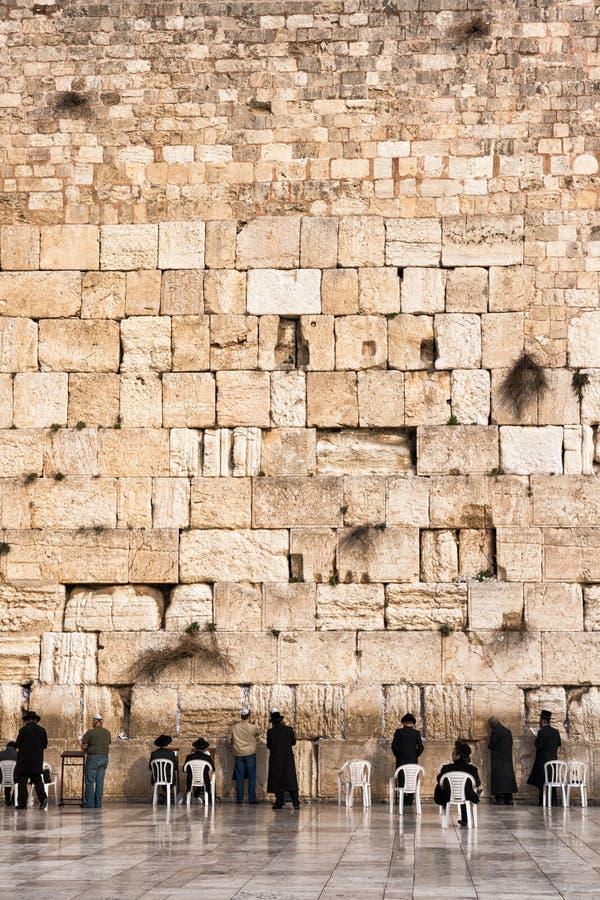 Klagemauer jüdisches Jerusalem lizenzfreies stockfoto