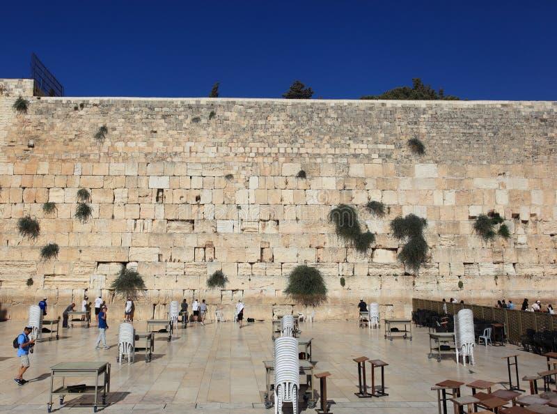 Klagemauer oder Kotel in Jerusalem, Israel lizenzfreie stockfotos