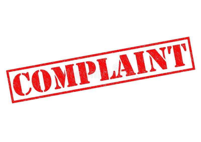klagomål stock illustrationer