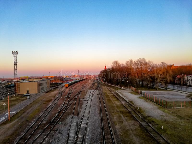 Klaipeda-Bahnstation stockfotos