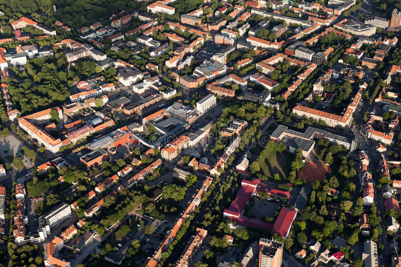 Klaipeda City Centre From Above Stock Image Image of tree village