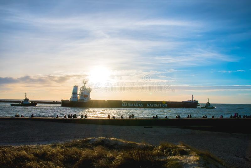 Klaipeda-Hafen stockbild