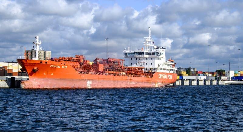 Klaipeda, lithuania, europe, harbor stock photo