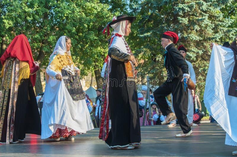 Klaipeda Lithuanie - 20 juillet 2018 fes internationaux de folklor images libres de droits