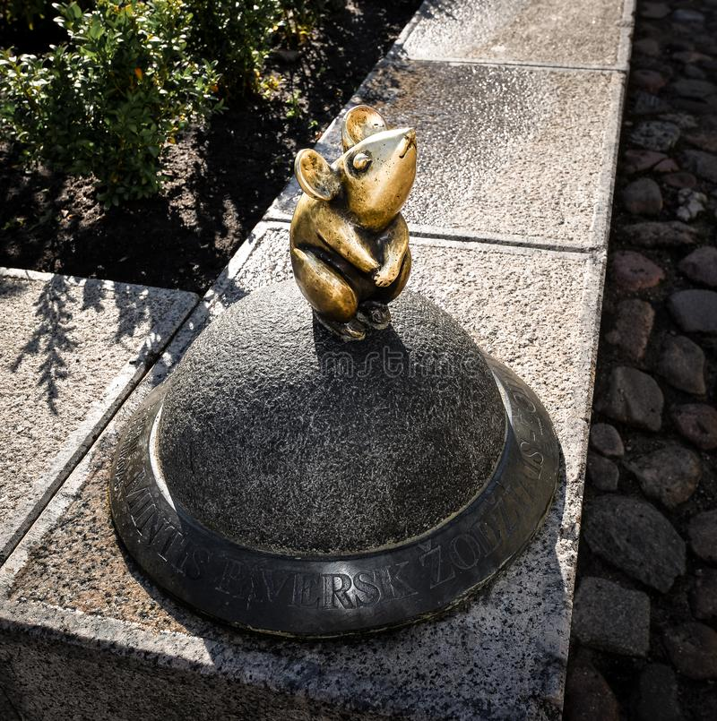 Klaipeda, Litouwen - Augustus 16, 2017: Mooi weinig magische muis, Klaipeda, Litouwen  royalty-vrije stock afbeelding