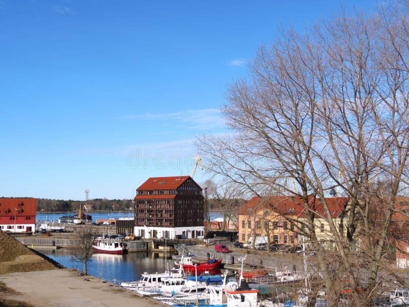 Klaipeda miasto, Lithuiania obrazy royalty free