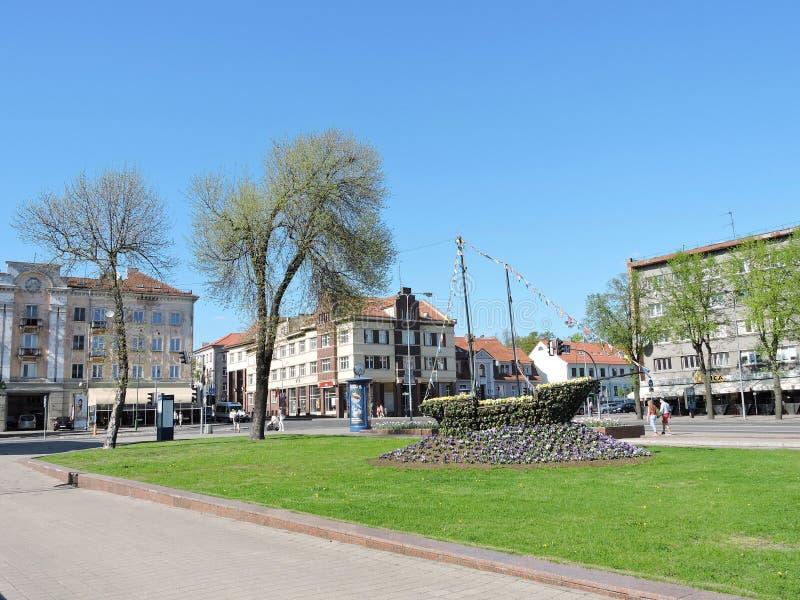 Klaipeda oude stad, Litouwen royalty-vrije stock foto's