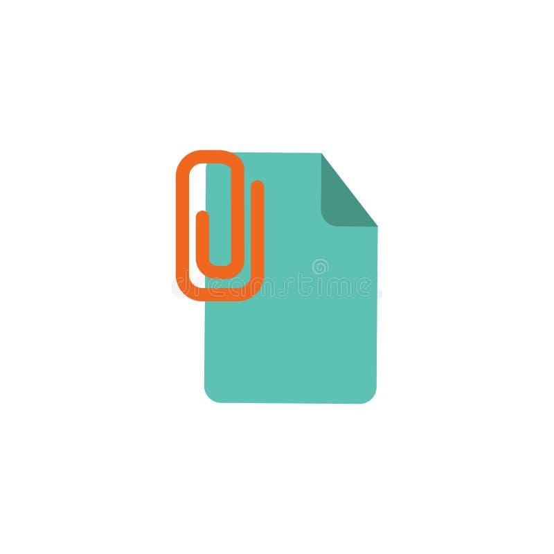 Klamerka dokumentu loga ikony projekt ilustracji