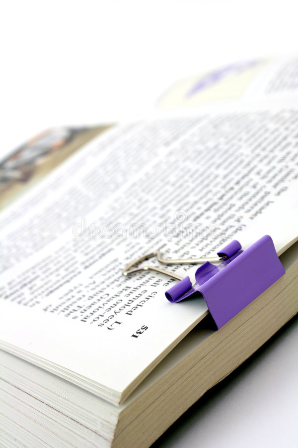 klamerka książkowy papier fotografia stock