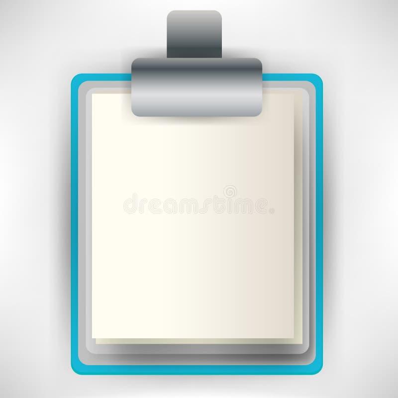 klamerki deskowa ikona royalty ilustracja