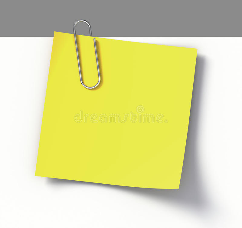 klamerki nutowego papieru przypomnienie ilustracja wektor