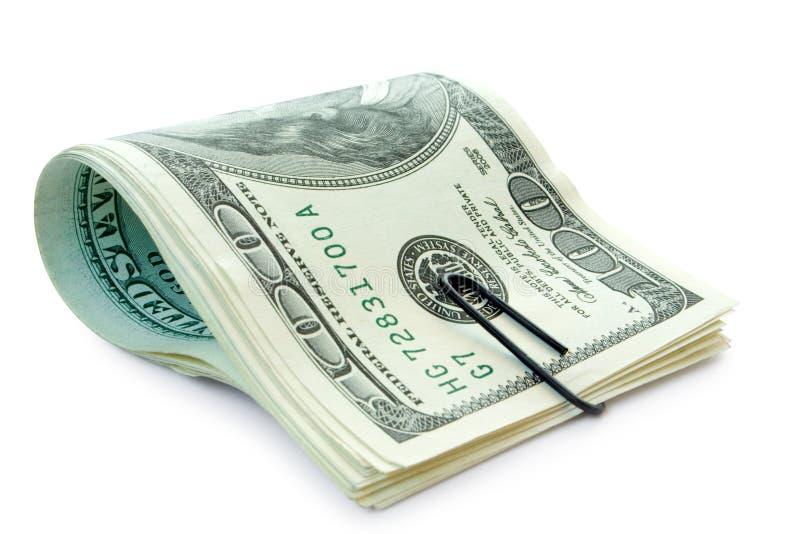 klamerki pieniądze papier obraz stock