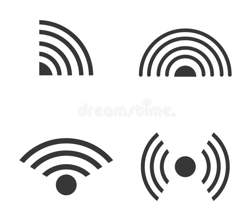 Klangdesign der schwarzen Welle vektor abbildung