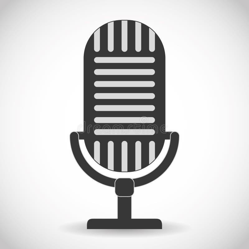 Klangdesign des Mikrofongeräts stock abbildung