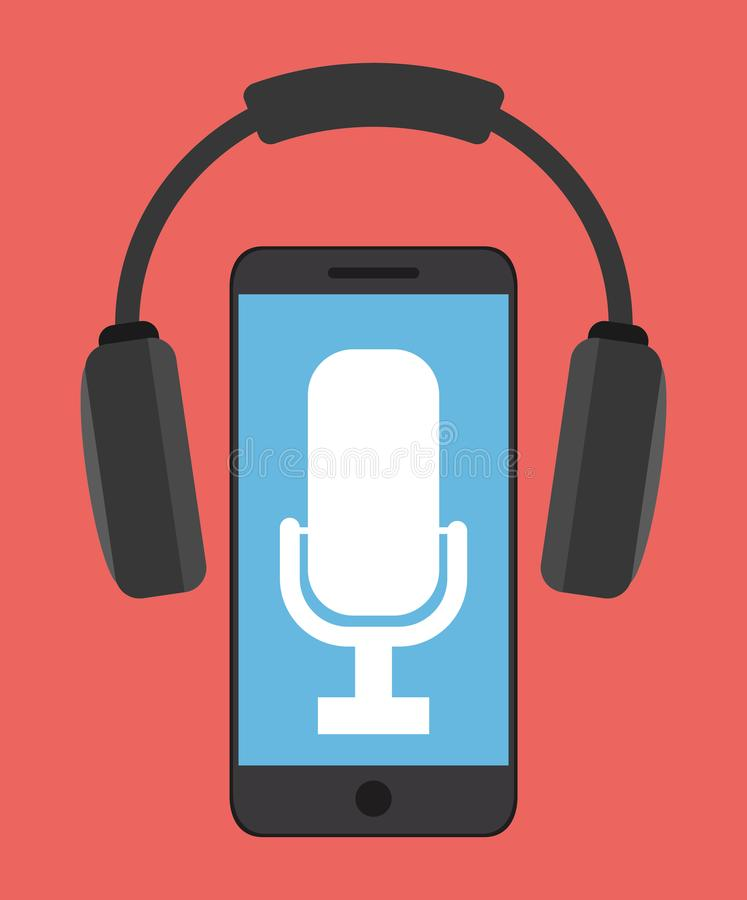 Klangdesign des Mikrofongeräts lizenzfreie abbildung