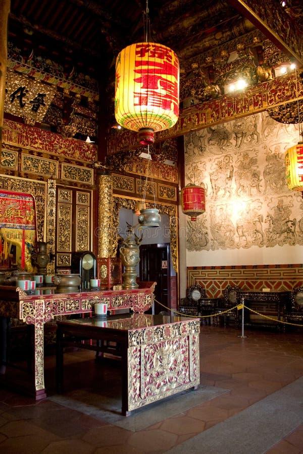 klanowa Penang wewnętrznej świątyni zdjęcia royalty free
