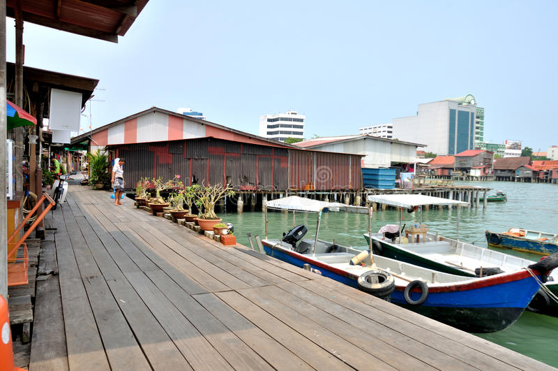 Klanowi Jetties Penang zdjęcie stock