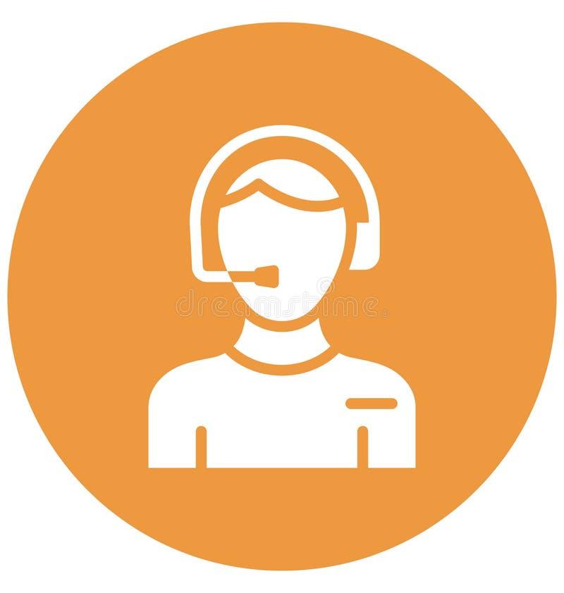 Klant Representatief Vector Icon wat zich gemakkelijk kan wijzigen of editCircle_760x800 stock illustratie