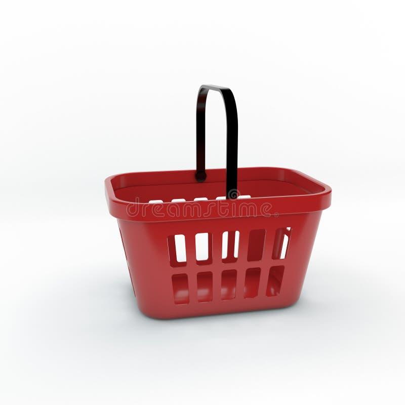 Klanten die bij supermarkt winkelen Geïsoleerdj op witte achtergrond 3D het teruggeven illu stock illustratie