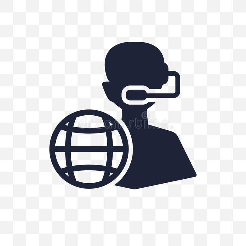 Klantenservice transparant pictogram Klantenservicesymbool desig royalty-vrije illustratie