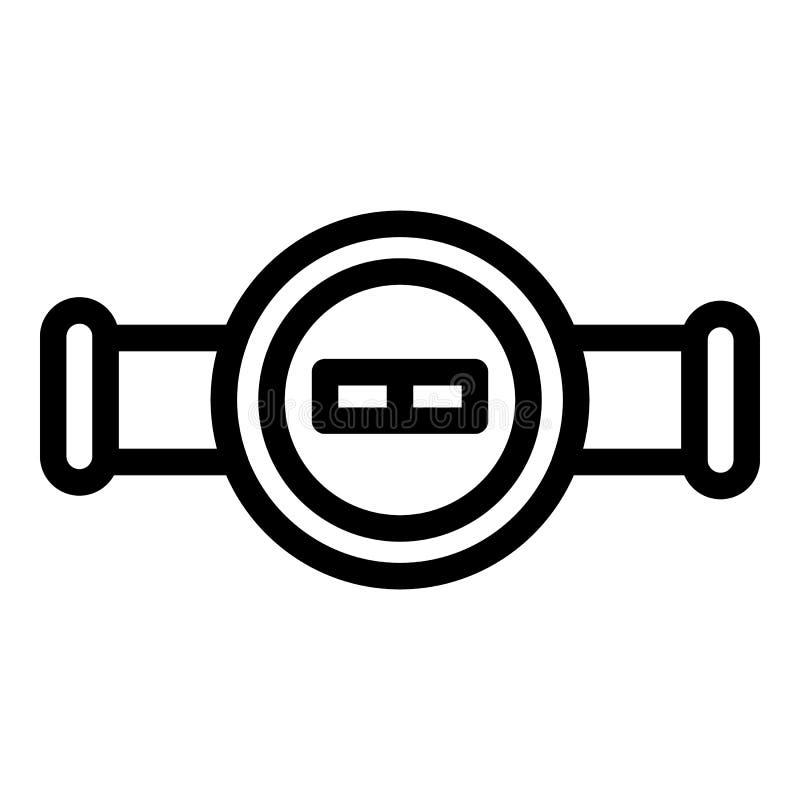 Klapa na kranowej ikonie, konturu styl royalty ilustracja