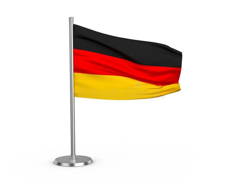 Klappende vlag Duitsland vector illustratie